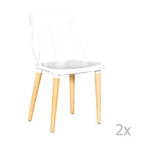 Sada 2 bílých jídelních židlí Evergreen House Raul