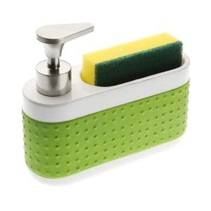 Bílo-zelený stojánek na mycí prostředky Versa Scourer