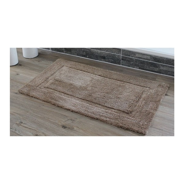 Koupelnová předložka Rahmen Taupe, 60x100 cm