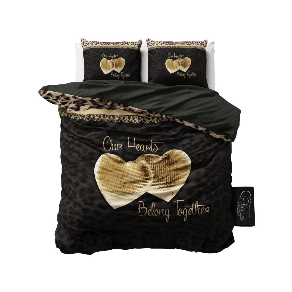 povle en z mikroperk lu sleeptime our hearts 240 x 220 cm bonami. Black Bedroom Furniture Sets. Home Design Ideas
