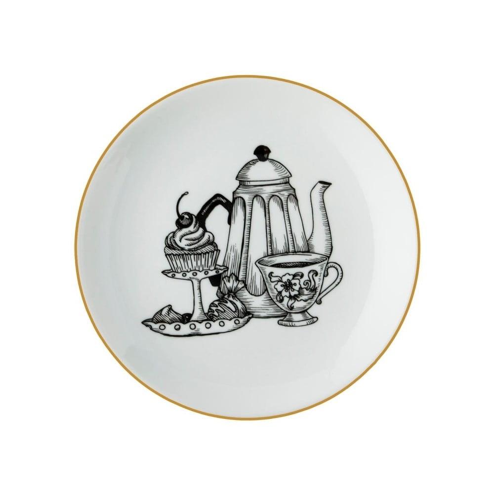 Porcelánový talíř Vivas Tea Time, Ø23cm