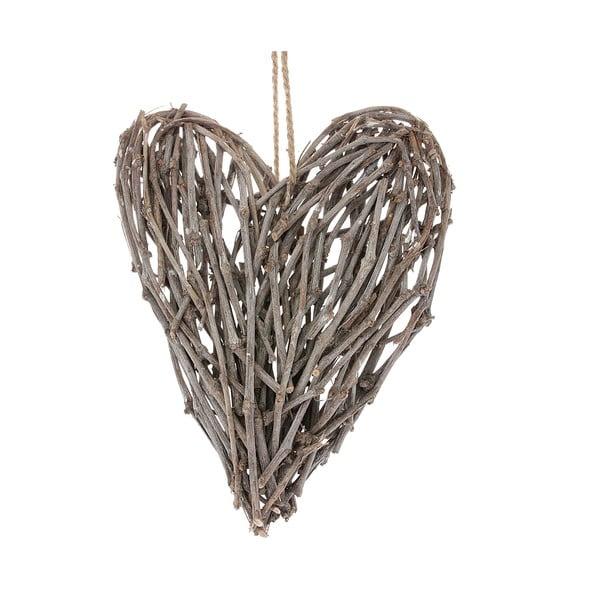 Dekorativní proutěné srdce Hjarta