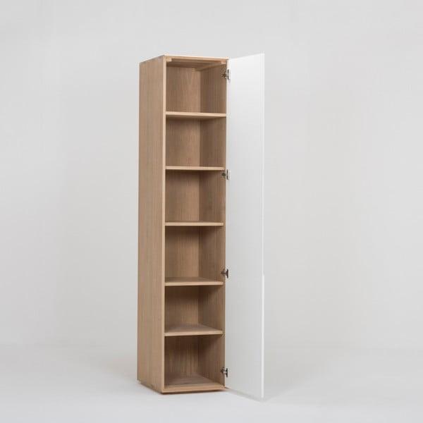 Modulový díl skříně s konstrukcí z masivního dubového dřeva s 5 policemi Gazzda Ena