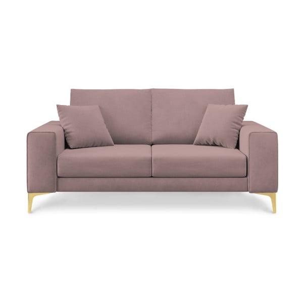 Canapea cu 2 locuri Cosmopolitan Design Basel, roz pudră
