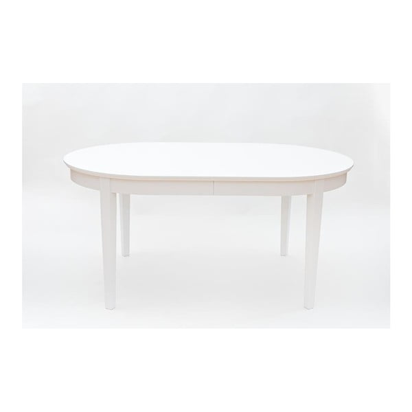 Bílý rozkládací jídelní stůl Wermo Family, 165-265x105cm
