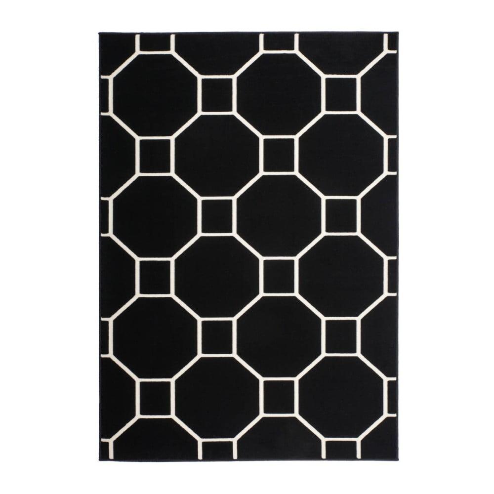 Černo-bílý koberec Kayoom Sentosa Elfe, 120 x 170 cm
