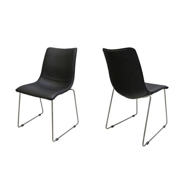 Sada 4 černých židlí Canett Delta