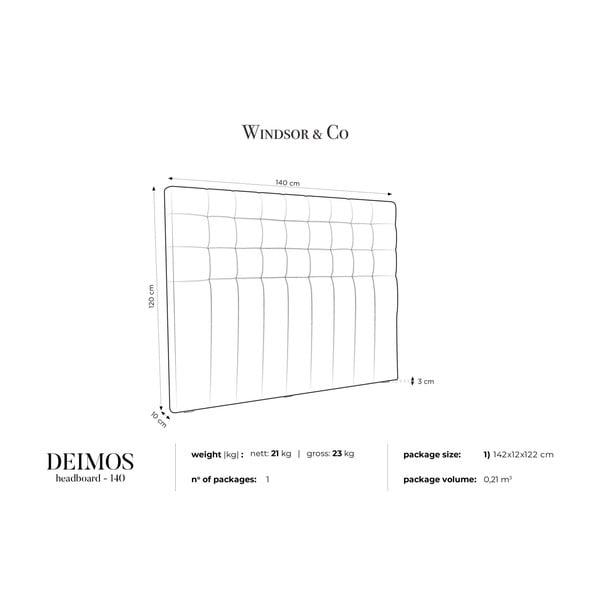 Krémové čelo postele Windsor & Co Sofas Deimos, 140 x 120 cm