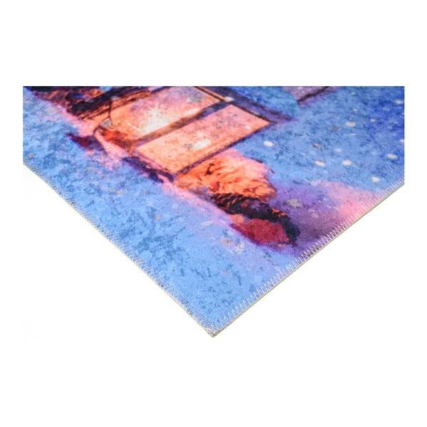 Covor Vitaus Lantern, 50 x 80 cm, albastru