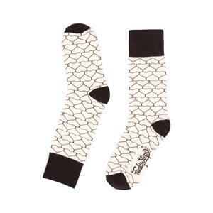 Béžové ponožky Funky Steps Geometric, vel. 35-39