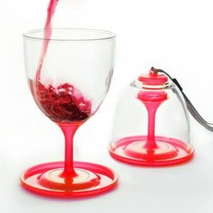 Set pahare vin Stack N' Go Vino, roșu