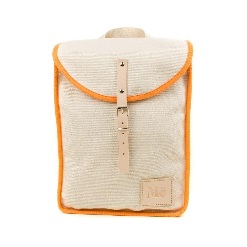 Béžový batoh s oranžovým detailem Mödernaked Orange Heap