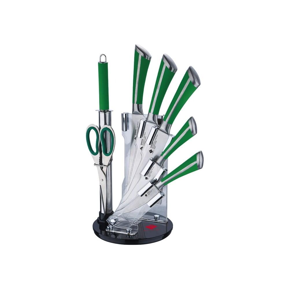 Set de buc t rie bergner stand 8 buc i verde bonami - Set de cuchillos bergner ...