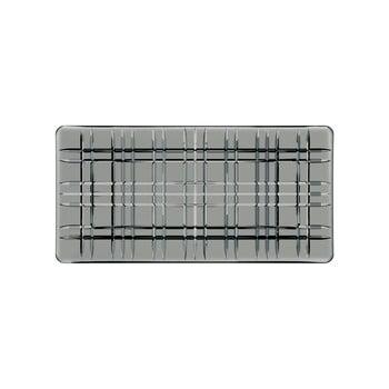 Tavă pătrată pentru servit din cristal Nachtmann Square Plate Smoke, lungime 28 cm, gri de la Nachtmann