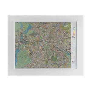 Magnetická mapa Berlína The Future Mapping Company Berlin Street Map, 130 x 100 cm
