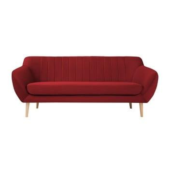 Canapea cu tapițerie din catifea Mazzini Sofas Sardaigne, 188 cm, roșu imagine
