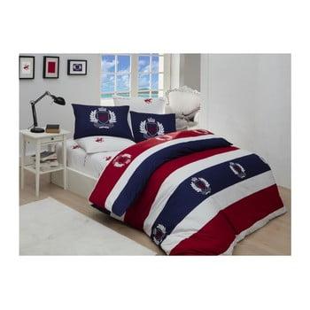 Lenjerie de pat cu cearșaf Beverly Hills Polo Club Fleming, 200 x 220 cm de la Beverly Hills Polo Club