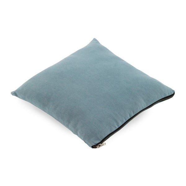 Błękitna poduszka Geese Soft, 45x45cm