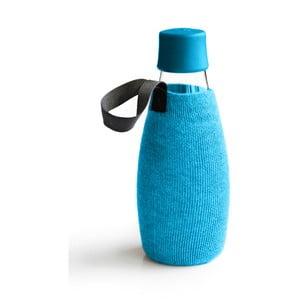 Světlemodrý obal na skleněnou lahev ReTap s doživotní zárukou, 500ml