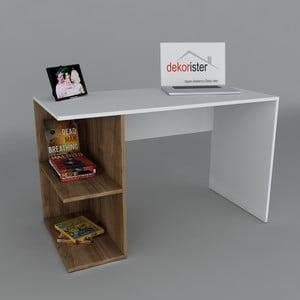Pracovní stůl Elegance Walnut, 60x120x75 cm
