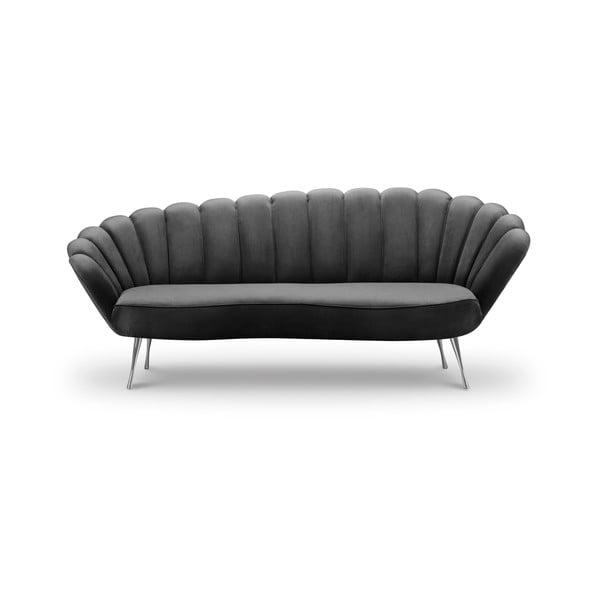 Varenne sötétszürke bársony aszimmetrikus kanapé, 224 cm - Interieurs 86