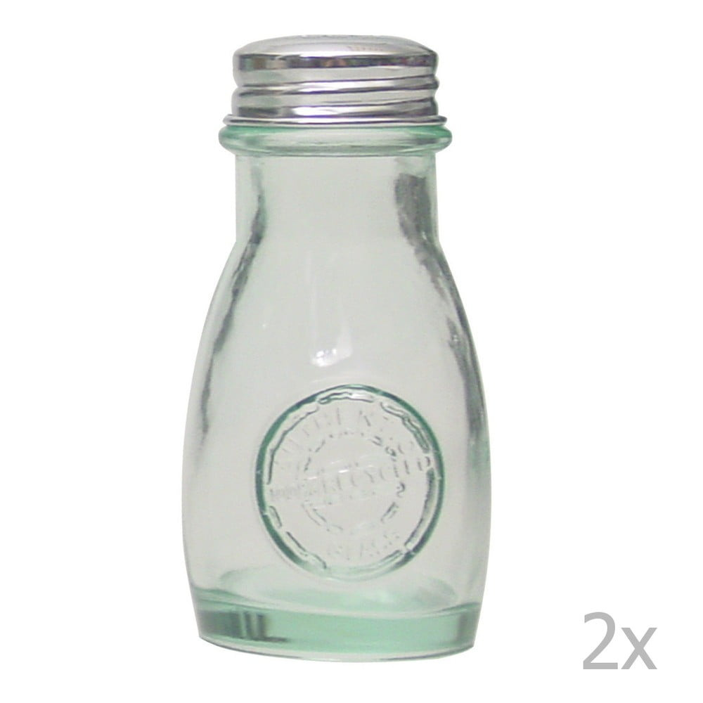 Slánka a pepřenka z recyklovaného skla Ego Dekor Authentic