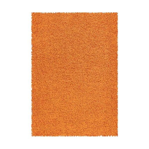 Koberec Shaggy 160x230 cm s 3 cm dlouhým vlasem, oranžový