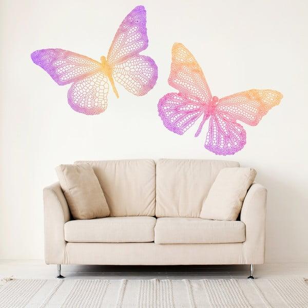 Samolepka na stěnu Barevní motýli, 60x90 cm