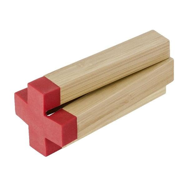 Červená bambusová podložka pod hrnec Wenko Cross