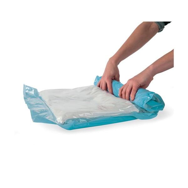 Sada 12 srolovatelných vakuových úložných obalů na oblečení Compactor Roll Up Vacuum Bags, 70 x 50 cm