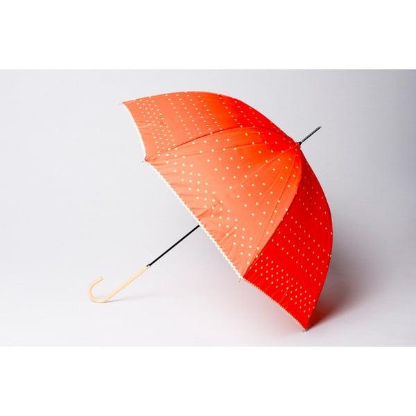 Puntíkatý deštník Dots, oranžový