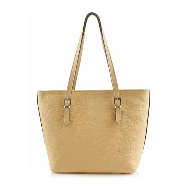 Kožená kabelka Boscollo Yellow 3438