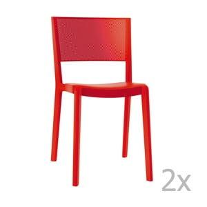 Sada 2 červených zahradních židlí Resol Spot