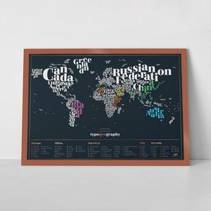 Seškrabávací mapa světa Luckies of London TypoGeography Edition