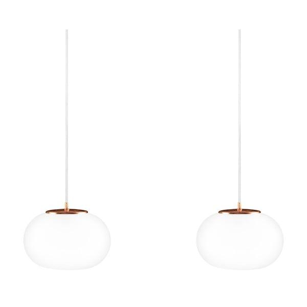 Dvojité svítídlo Dosei Elementary, opal matte/copper/white/copper