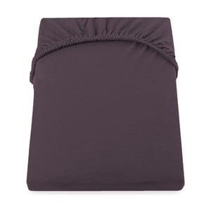 Cearșaf de pat cu elastic DecoKing Nephrite, 220–220 cm, maro