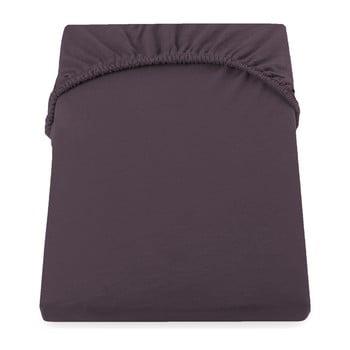 Cearșaf de pat cu elastic DecoKing Nephrite, 180–200 cm, maro imagine
