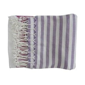 Fialová ručně tkaná osuška z prémiové bavlny Homemania Melis Hammam,100x180 cm