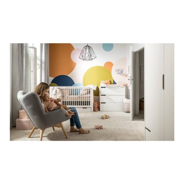 Dětská postýlka s odnímatelnou ohrádkou a úložnou zásuvkou Vox Milk, 70x140cm