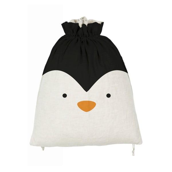 Látkový úložný vak Little Nice Things Penguino