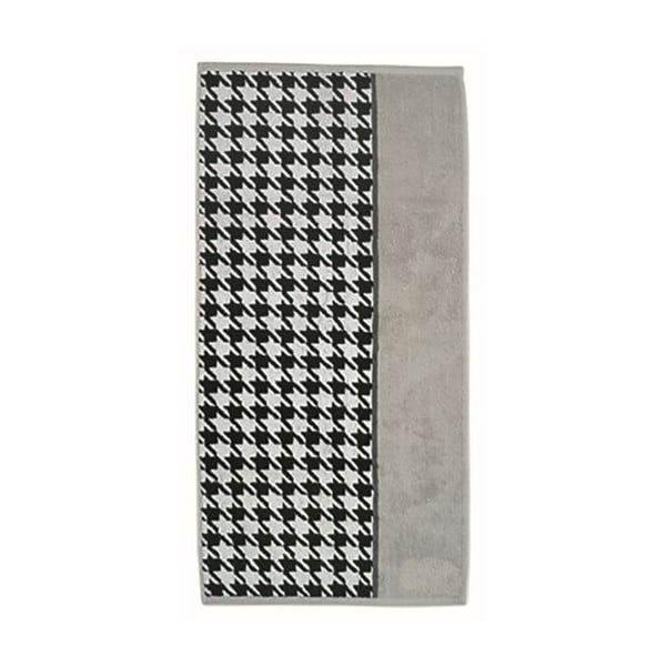 Ručník Ladessa, šedá kohoutí stopa, 50x100 cm