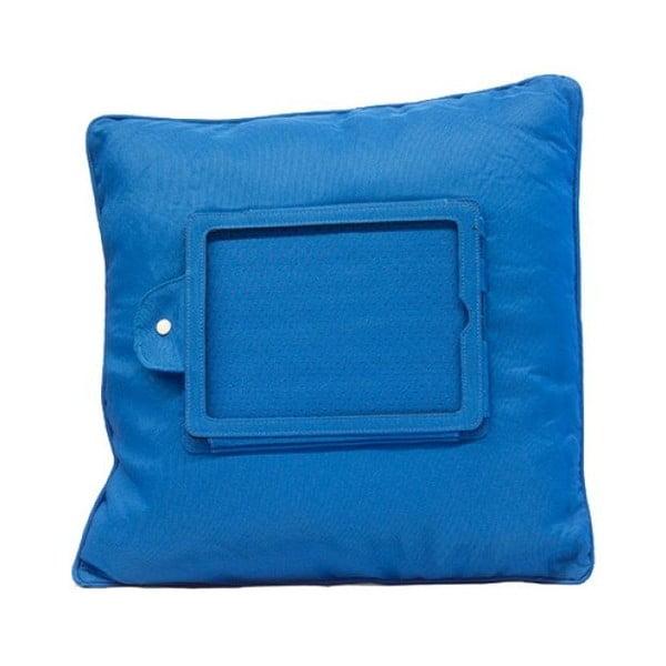 Modrý polštář s držákem na iPad InnovaGoods