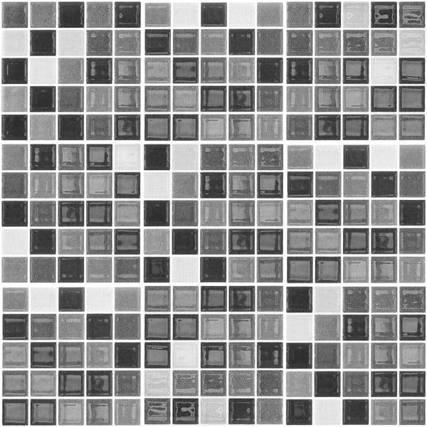 Sada 9 dekorativních samolepek na stěnu Ambiance Shade of Grey, 10 x 10 cm