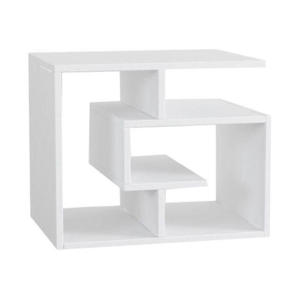Bílý konferenční stolek k pohovce Labirent