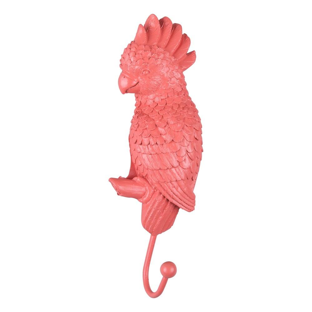 Korálově růžový věšák Leitmotiv Kakadu