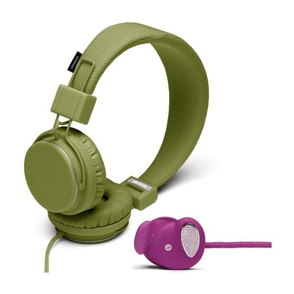 Sluchátka Plattan Olive + sluchátka Medis Grape ZDARMA
