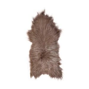Blană de oaie cu fir lung Taupe, 110x60 cm