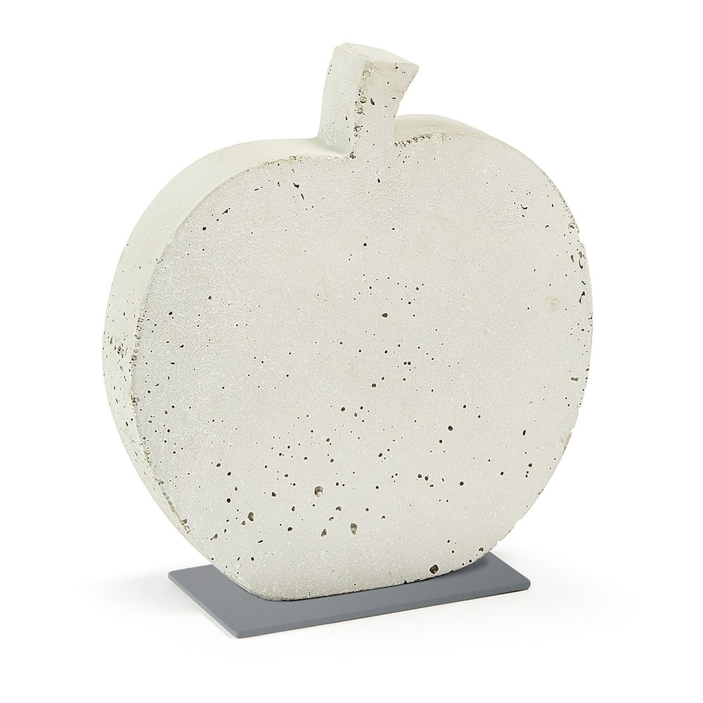 Bílá cementová dekorace La Forma Sens Apple, 28 x 30 cm