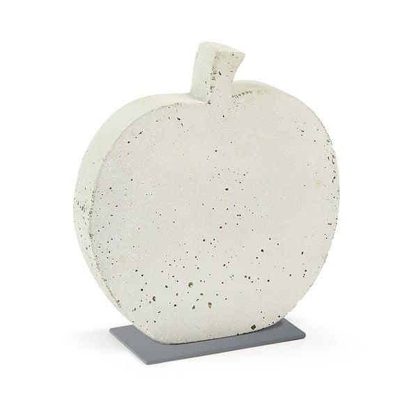 Decorațiune din ciment La Forma Sens Apple, 28 x 30 cm, alb