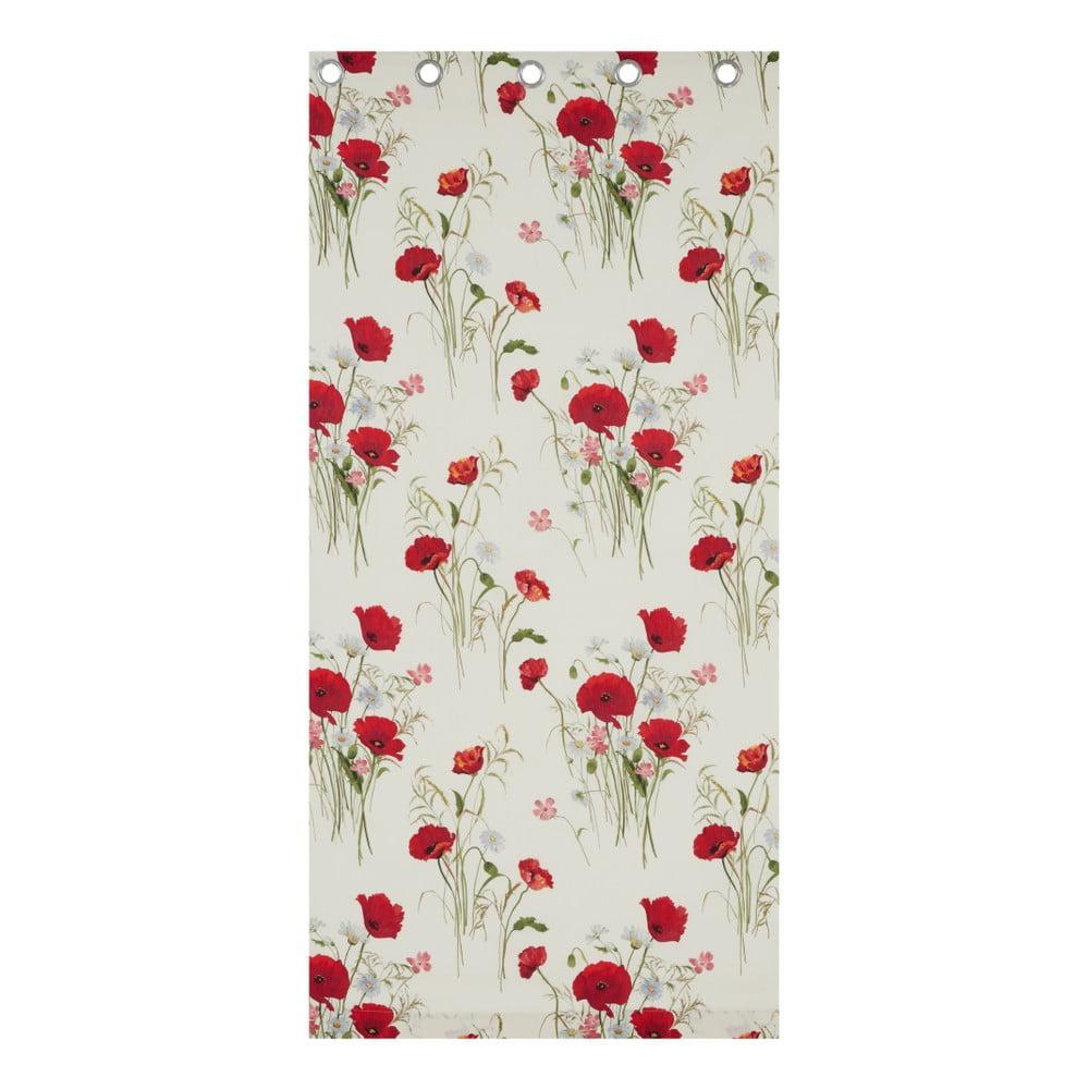 Závěsy Catherine Lansfield Wild Poppies, 168 x 183 cm